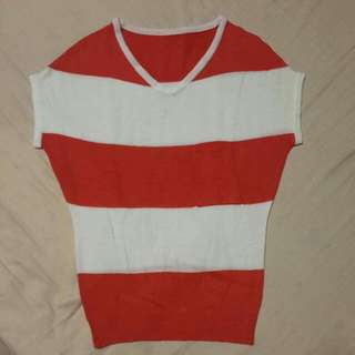 Knitted Stripes Woman Top