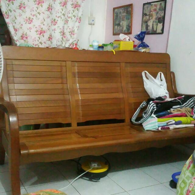 3 Seat Chinese Wooden Sofa Furniture On Carousell