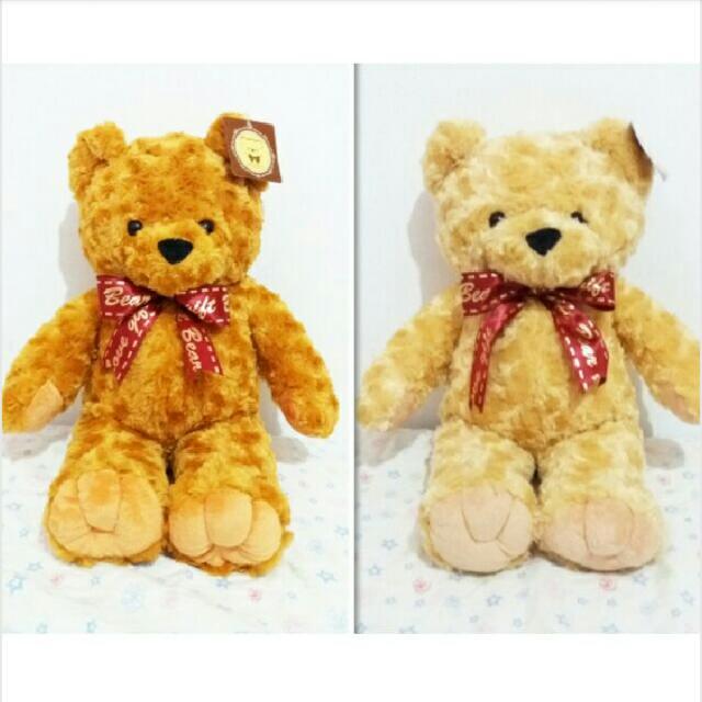 ★娃娃兵★經典焦糖棕色玫瑰紋熊熊大玩偶娃娃