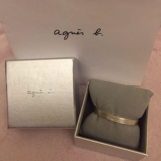 正品 Agnes b 純銀手環