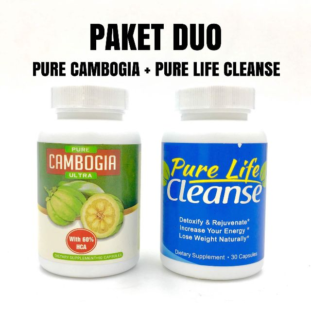[ paket duo ] pure cambogia ultra pure life cleanse original