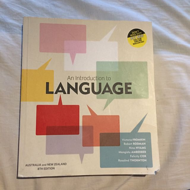 An Introduction To Language Australia And New Zealand 8th Editon