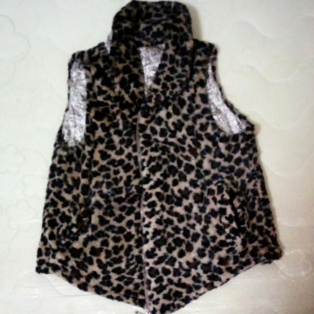 Animal Print Cardigan - Reversible