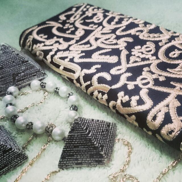 Arabian Calligraphy Clutch (bordir)