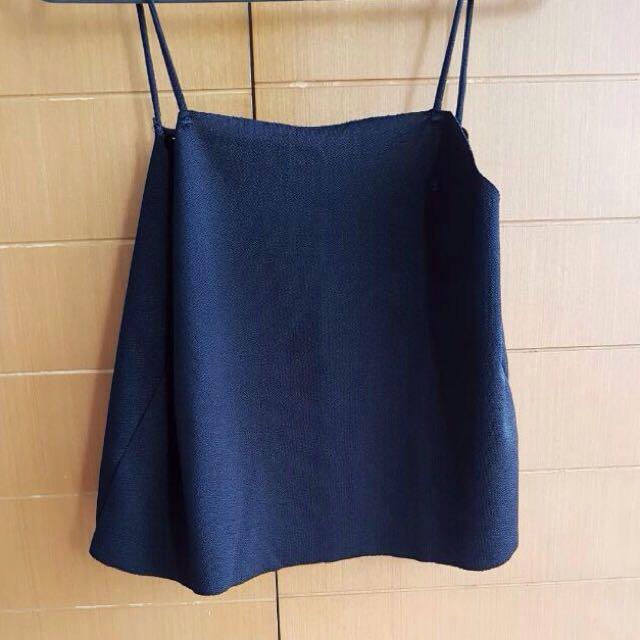 Black Crop Top Pull & Bear