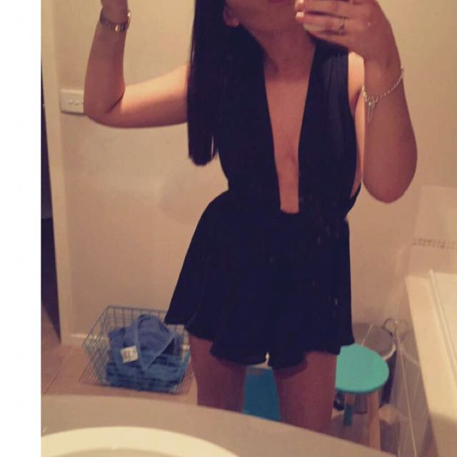 Black Wrap Around Playsuit