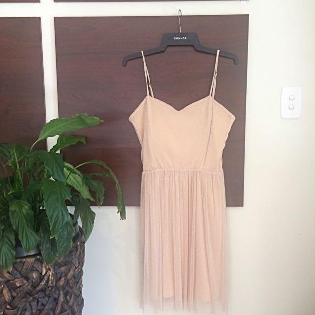 Boohoo Dress (beige/blush)