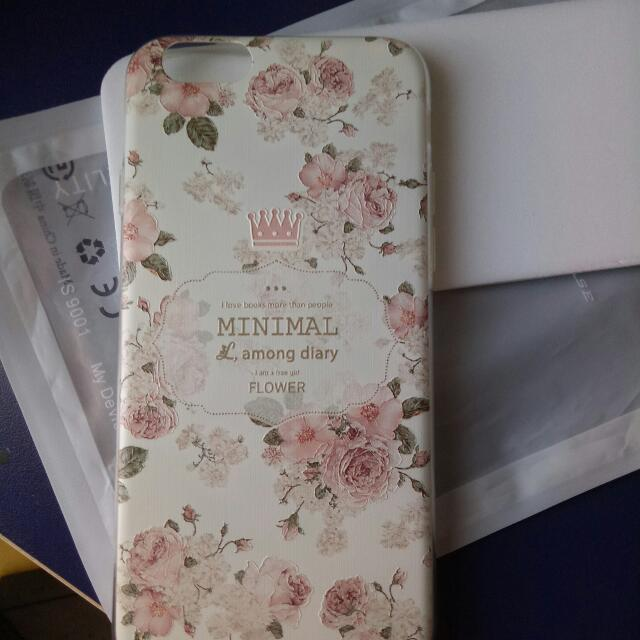 brand new iphone6 soft silicon pink floral case