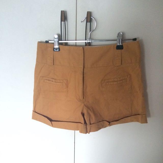 Brown Sportsgirl High Waisted Shorts