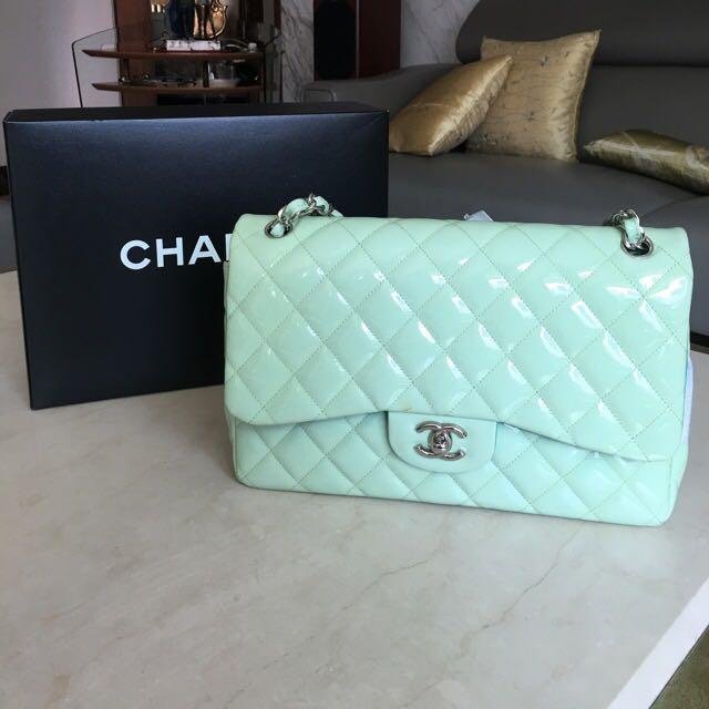 Chanel 經典雙色漆皮