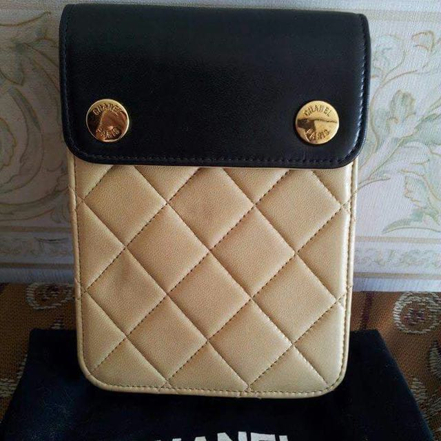 Chanel Beige x Black 2 Way Mini Bag