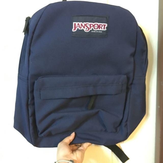 Class A Navy Blue Jansport Bag