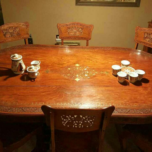 Dining Room Table And Corner Unit Set