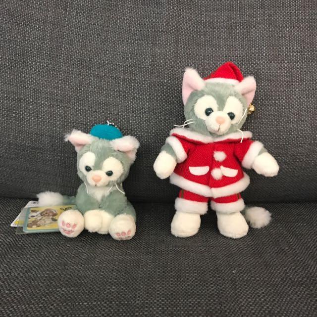 東京直送 聖誕版Disney 畫家貓Duffy Gelatoni迪士尼吊飾 手機掛飾 公仔 別針
