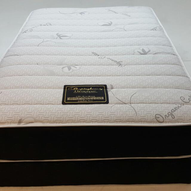 Double Sided Pillow Top Mattress And Box Spring Furniture On Carousell