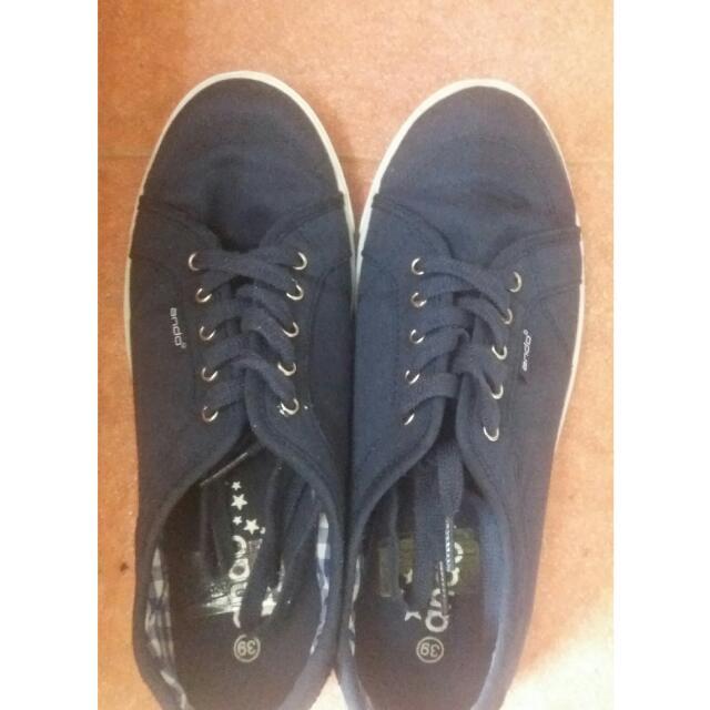 [Free Ongkir] Sepatu Wanita Navy