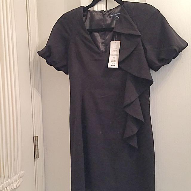 French Connection Black Asymmetrical Dress