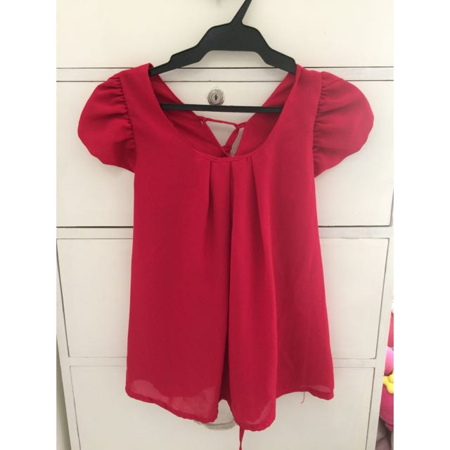 Fusia pink blouse
