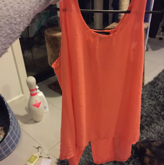 Gorgeous Split Back Orange Shirt
