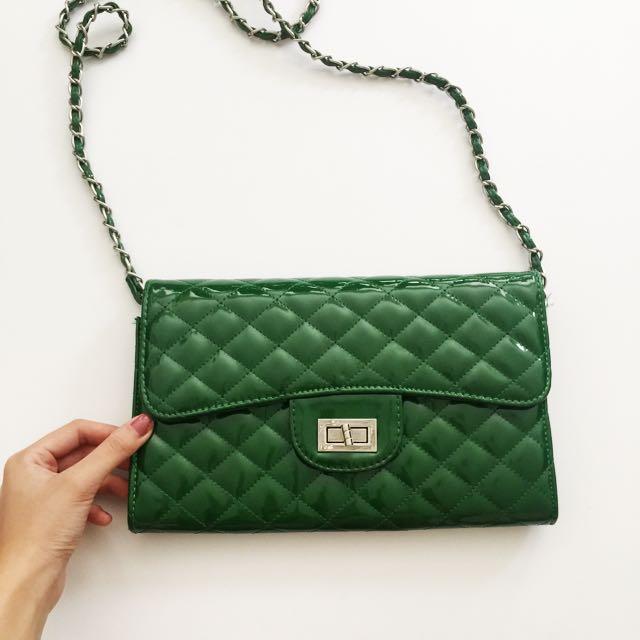 Green Hand Bag