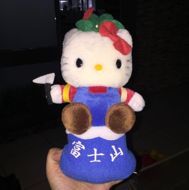 Hello Kitty Mt. Fuji plush toy