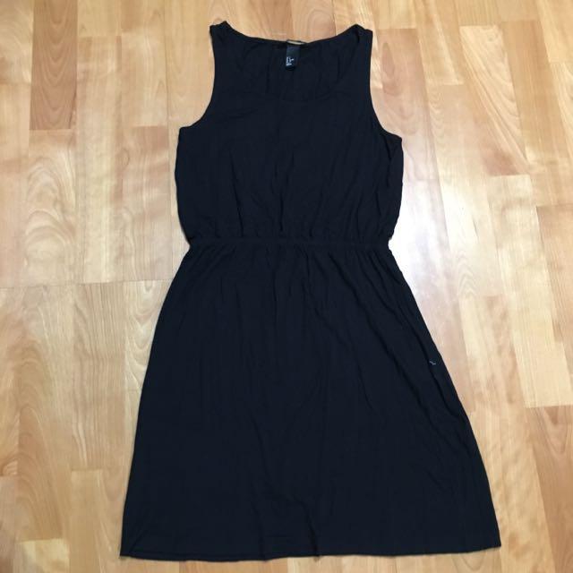 H&M 黑色連身洋裝
