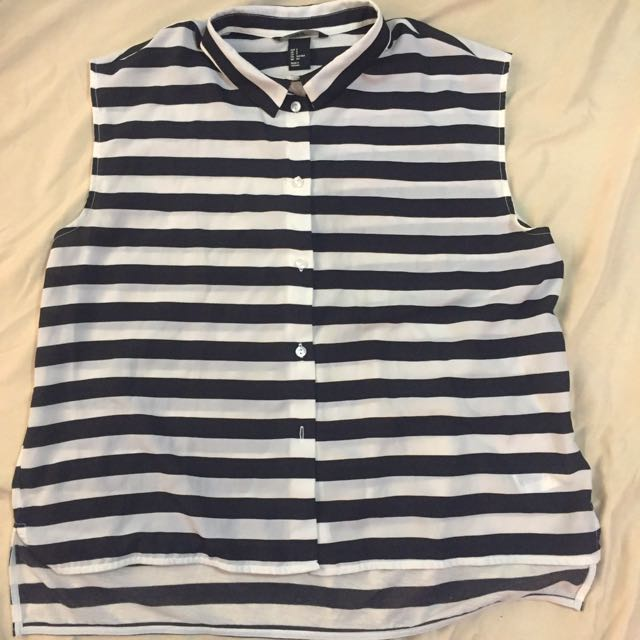 H&M striped Button Down