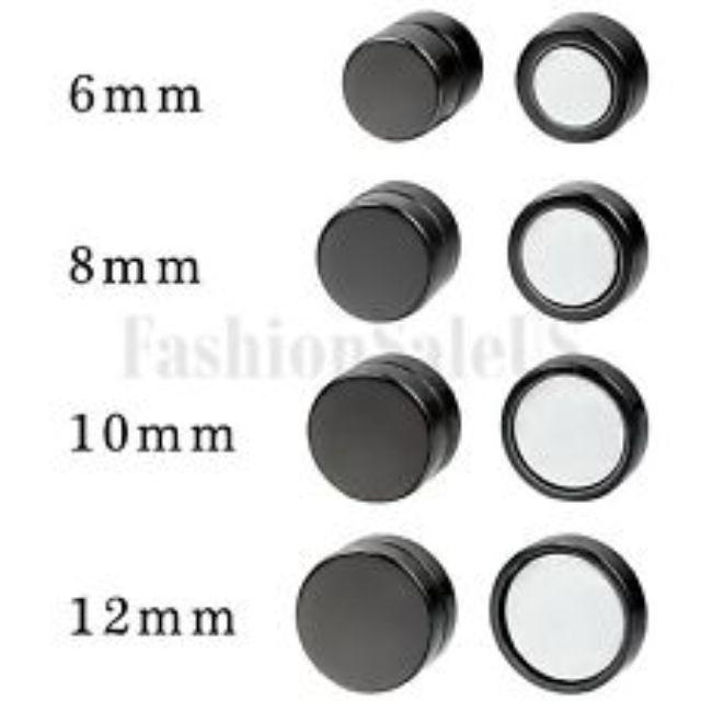 3b3f5f16a Instock] 12mm Magnetic Black Earstud/Earrings/Earpiece - Non ...