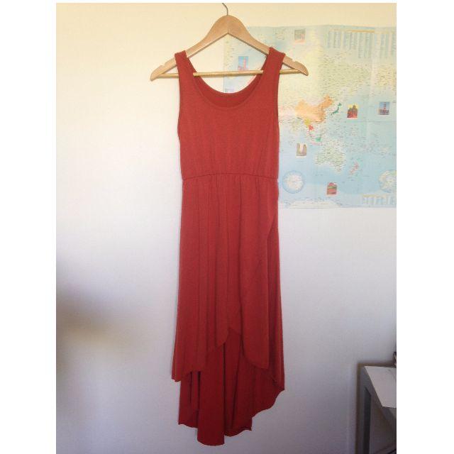 Jersey burnt orange dress