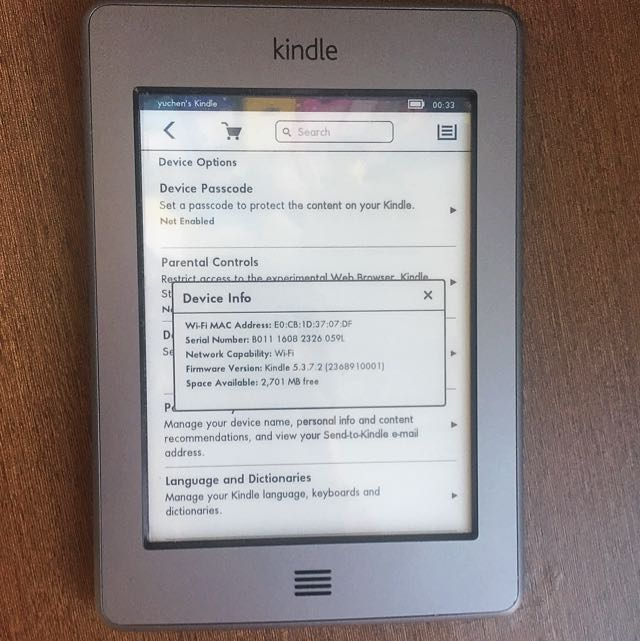 Kindle Touch