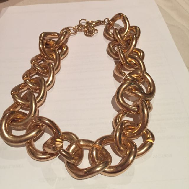 Large Chunky Gold Chain Necklace