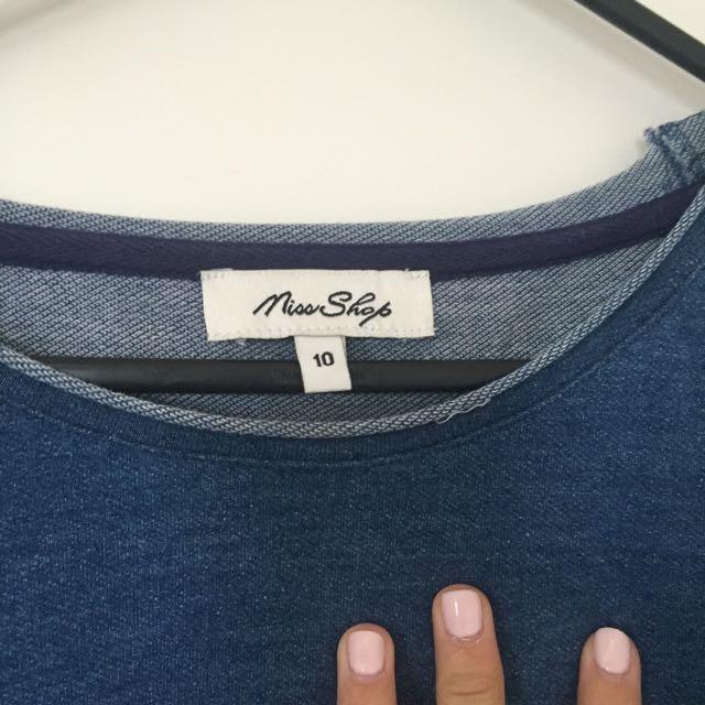 Miss Shop denim 3/4 Sleeve Shirt