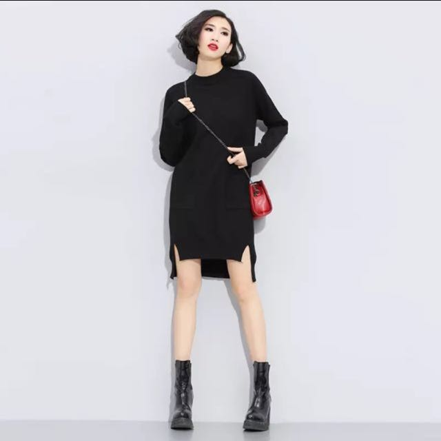 New sweater dress in red