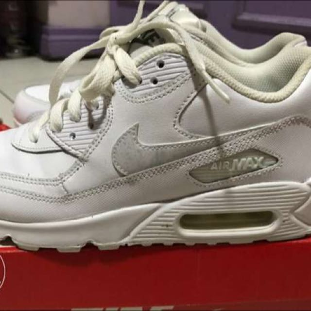 ... inexpensive nike airmax 90 ltr gs white size 5.5y preloved womens  fashion c7f98 bdb5b ... f38a7d3f947ba