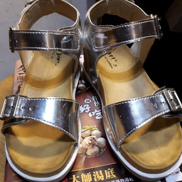(保留)Ollie 銀增高涼鞋