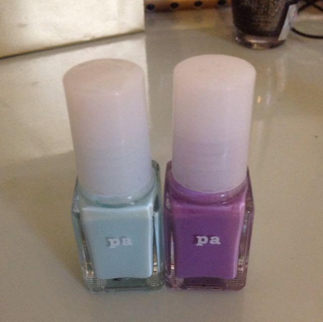 Pa指甲油 粉紫、天藍色