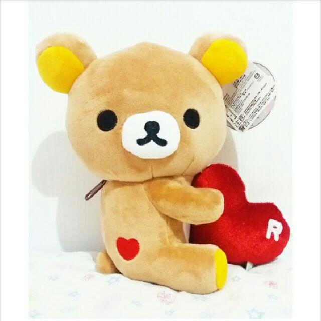 ★娃娃兵★Rilakkuma拉拉熊懶懶熊愛心娃娃玩偶