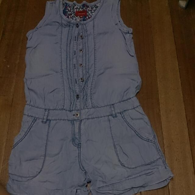 Romper Soft Denim Med