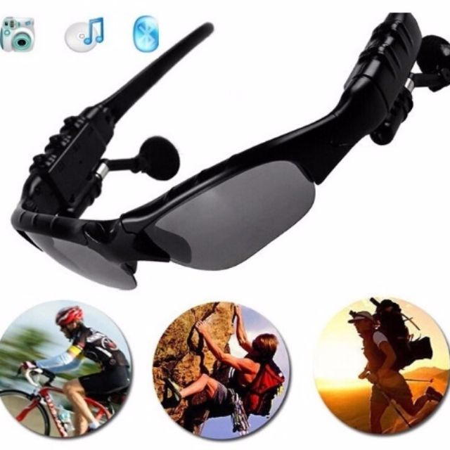 Sport Camera Eyewear Sunglasses with Video Recorder,Camcorder Earphone Handsfree Function (Color: Black)