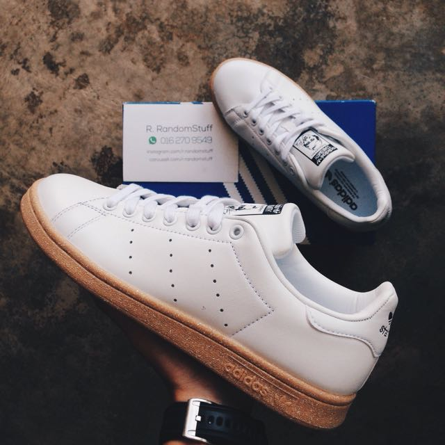new style b05cc d3be4 8US Stan Smith White Gum Sole