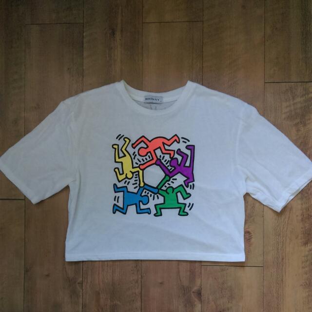 🇯🇵日本Wego x Keith Haring聯名款 短版上衣
