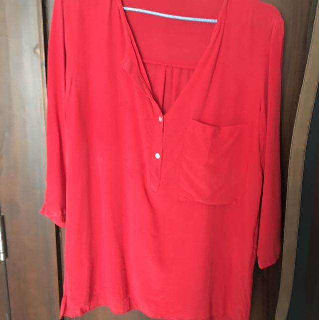 Zara Red Shirt
