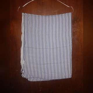 Pasmina Katun Stripes Navy White