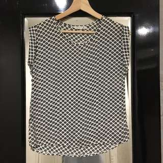 Atmosphere B&W Chiffon Silk Top
