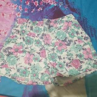 Pink Flower Hotpants     Size : Xs - S  Pinggangnya Pake Karet