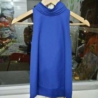 Halterneck biru