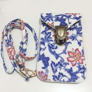 青花瓷圖案 電話袋 小袋 小包包 斜背包 斜咩袋