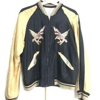 橫須賀 日本 下北澤 緞面 刺繡外套