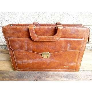 Vintage Leather Attache Case Briefcase