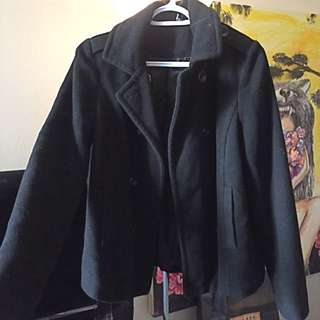 Urban outfitters Black Fall Coat XS